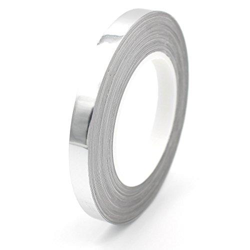 7m Chrom Zierstreifen 6,5mm von Finest-Folia GmbH Seitenstreifen Auto Motorrad Dekorstreifen (Silber Chrom)