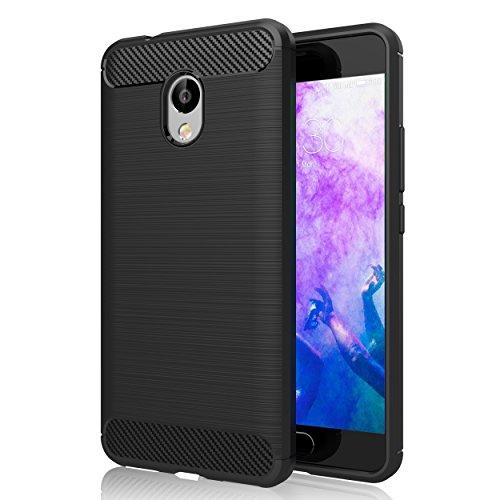"""Cover Meizu M5S , GeeRic Nero Silicone Custodia Meizu M5S Cover Black Molle di TPU Custodia per Meizu M5S Case Soft 5.2"""""""