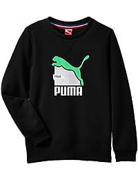 PUMA Sweatshirt Fun TD Graphic Crew Sweat Terry B - Sudadera para niño, color negro, talla de: 128