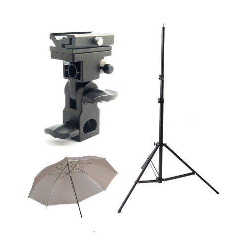 cowboystudio-einzelblitzschuhswivel-bracket-kit-mit-1-montagewinkel-1-sonnenschirm-1-stand-stander