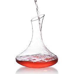 Fait à la main Décanteur à vin Creative Vin Rouge Décanteur Verre Cristal sans plomb Vin Decanter ustensile pour Home Bar à vin et fête de mariage, transparent, Carafe 2#