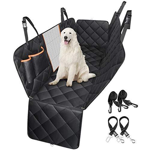Topelek coprisedile per cani auto, coprisedile posteriore accessori cane auto, 600d oxford impermeabile antiscivolo copertura auto cane con finestre a maglie, per camion/auto/suv