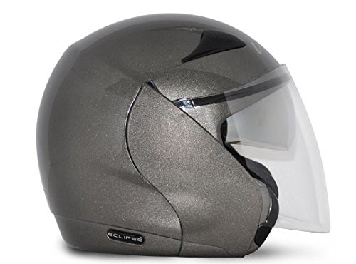 Vega Eclipse ECL-A-L Open Face Helmet with Double Visor (Anthracite, L)
