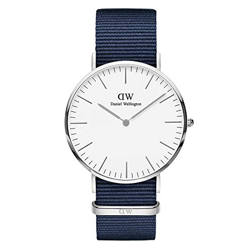 Daniel Wellington Unisex Adult Analogue Quartz Watch with Nylon Strap DW00100276