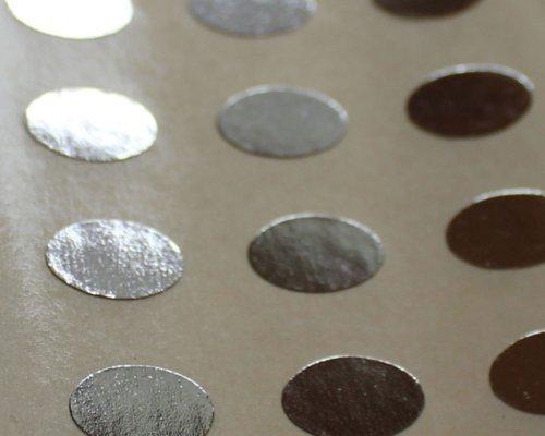 150 Etiquetas, 10x7mm óvalos, Plata Brillante, pegatinas autoadhesivas, Minilabel Formas