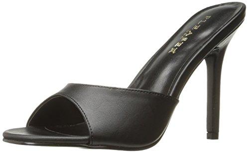 Pleaser Damen CLASSIQUE-01 Offene Sandalen, Schwarz (Blk Kid Pu), 37 EU Pleaser Stiletto