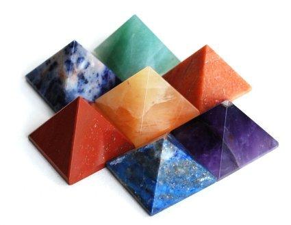 Honig Onyx Stein (Natur Edelstein 7Chakra Set Hand Gravur Chakra Stone Set (Chakra Reiki Pyramid Set)))