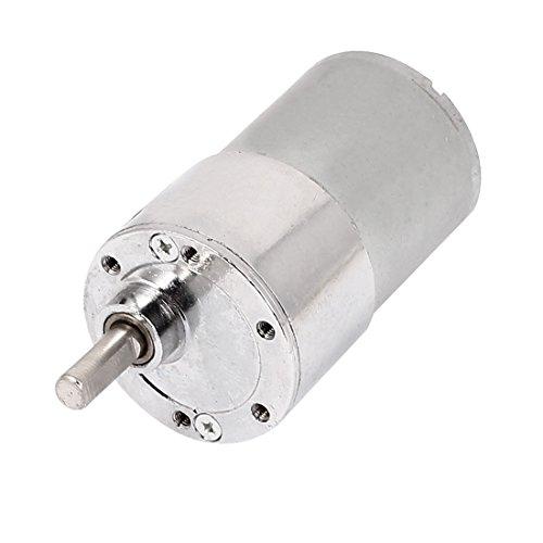 sourcing map DC 12V 150 RPM 6mm 37mm Diamètre corps forme cylindre moteur boîte vitesses