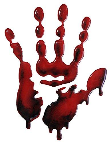 Tankpad 3D - 501980 Halloween Horror - blutige Hände Aufkleber - Blood-Hands Car-& BIKE Styling / Auto- & Motorrad (Ideen The Dawn Dead Kostüm Of)