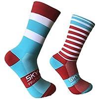 Hohe Qualität Chinlon Sport Socken Welle Punkt Gestreiften Bikes Socken Outdoor Radfahren Socken Links und Rechts... preisvergleich bei billige-tabletten.eu