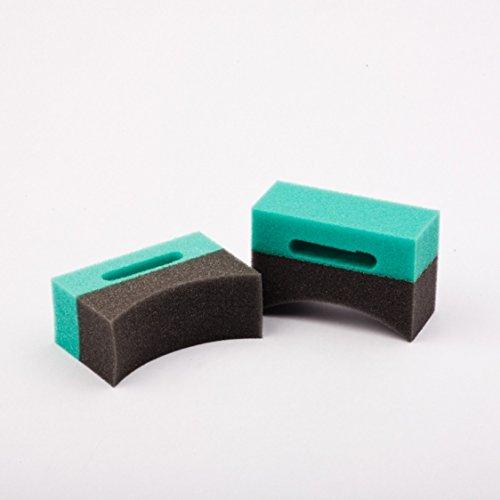 Shiny Garage Applikator für Reifenpflege Bi-Color shaped sponge applikator