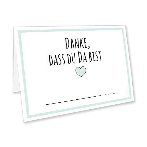 CUPCAKES & KISSES® 50er Tischkarten Spar-Set I Namenskarten I Platzkarten für Hochzeit, Geburtstag, Feier, Dinner, Party, Konfirmation oder Taufe
