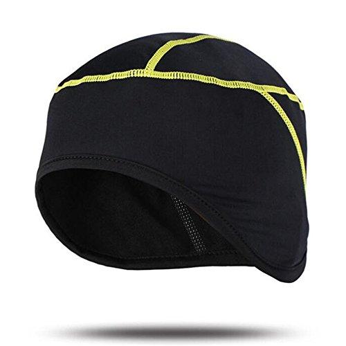 West Biking, warme Herren-Thermofleece-Mütze/Kappe, zum Fahrradfahren, Radsport, Laufen, damen Jungen Herren, gelb, Free Size