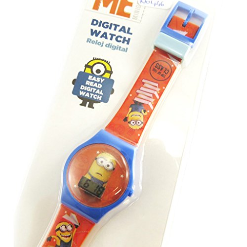 Reloj de pulsera digital de los Minions en azul y naranja