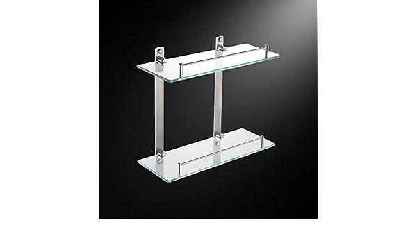Edelstahl bad wc bad regal bad zubehör teleskopregal glas storage