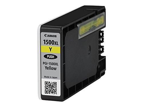 Canon PGI-1500XL Y original Tintenpatrone (Amarillo XL für Maxify Drucker MB2050-MB2150-MB2155-MB2350-MB2750-MB2755) -