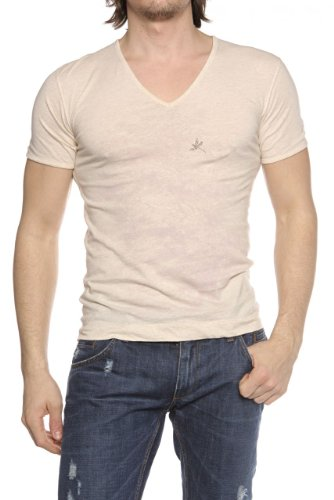 PS Paul Smith Herren Shirt Motiv T-Shirt NATURE Beige