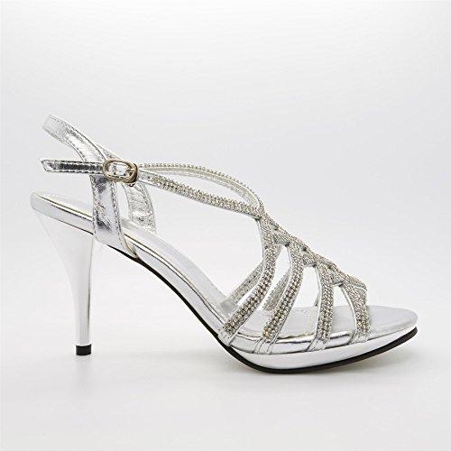 London Footwear , a bride femme Argent - argent