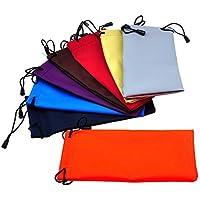 Hosaire 10 Piezas Bolsas de Joyas Gafas de Bolsillo de Moda Gafas de Sol Bolsa PU Bolsa para el Teléfono Móvil Gafas de Almacenamiento de Afeitar - Colorido