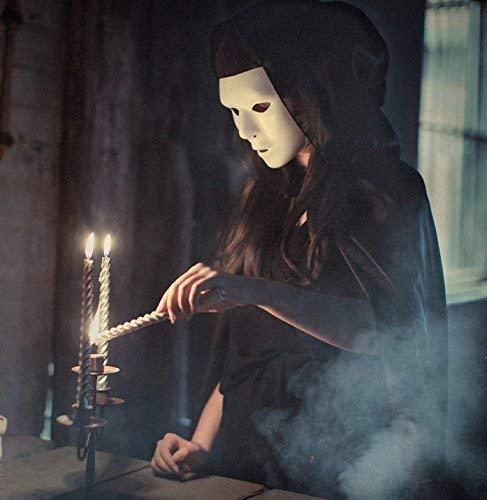 Loisleila Halloween Hexen Zauberer Masken und Umhang Maskerade Hip-Hop Shuffle Dance Party (Hexe Maskerade Maske)