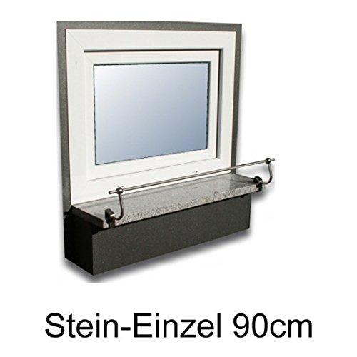 Blumenkasten-Halterung 90 cm, Edelstahl f. Stein-Fensterbänke, Montage ohne Bohren