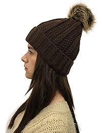 BHYDRY Mujeres Crochet Invierno Gorro Punto Caliente Cozy Grande Sombrero  Moda DiseñO De Lana Tejer Beanie 4ca2fba3882