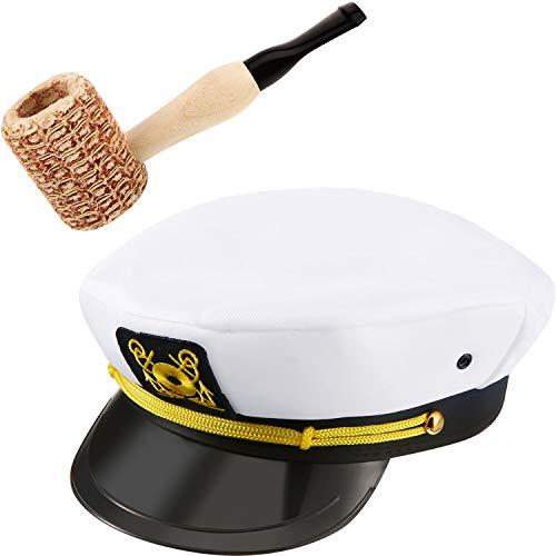 Kostüm Maiskolben - Yacht Sailor Kostümzubehör Yacht Captain Hat und Sailor Hat mit Corn Cob Pipe