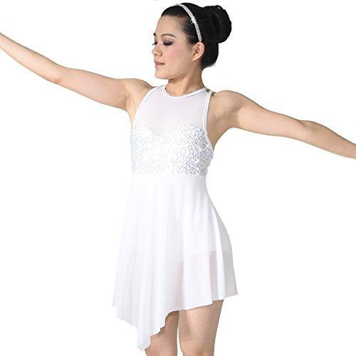 81e92b5592328 MiDee Lyrical Dress Dance Costume Illusion Sweetheart Sequines Tank Top  Triangla