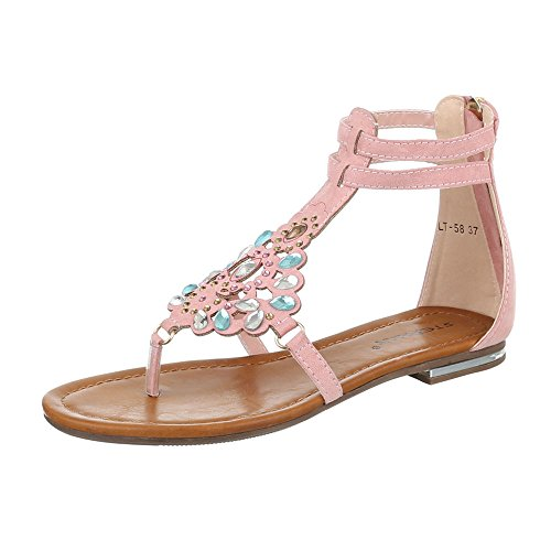 Ital-Design , Escarpins peep-toe femme Rose