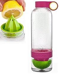 KANTHI Lemon cup Water Infusing Bottle Health manual juicer cup fruit cups Water Bottle Lemon Juicer (Multicolor)