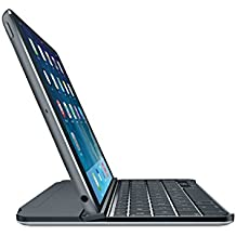 Logitech ultra delgada cubierta del teclado español para el iPad Mini 1/2/3 - Espacio Gris