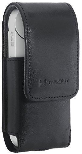 StilGut Zigarettenetui, case kompatibel mit IQOS, aus Leder für elektronischen Zigaretten, Schwarz Nappa
