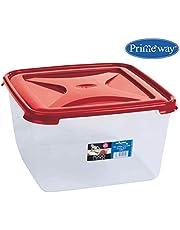 Primeway® Wham Cuisine Large Square Food Storage Plastic Box Container, 15 Litre, Red