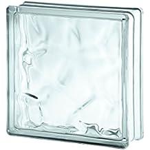 10x Glasbaustein Wolke wei/ß 9x19 cm 10er-Pack
