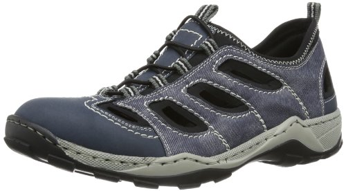Rieker 08065 Sneakers-Men, Herren Sneakers, Blau (denim/jeans/schwarz/14), 43 EU