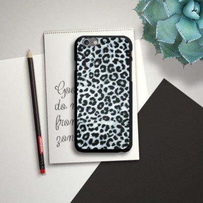 Apple iPhone 5s Housse étui coque protection Léopard Fourrure grise Imprimé animal CasDur noir