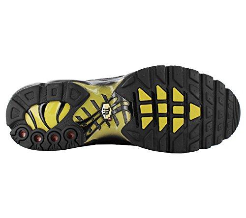 Nike Herren Air Max Plus Sneaker Schwarz (Black/White-Vivid Sulfur 020)