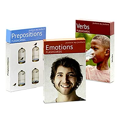 PictureMyPicture Feelings and Emotions, Prepositions and Verbs Flash Card Pack