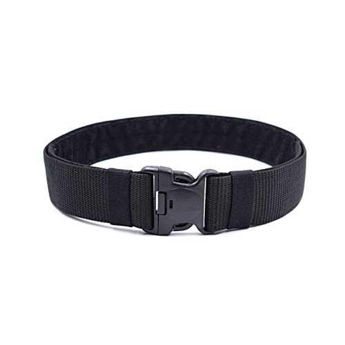 OUNONA Unisex Military Belt Adjustable Tactical Belt for Outdoor Adjustable Belt with Quick Release Buckle 120x5.5x0.3CM (Black)