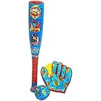 PAW PATROL - Ball, Baseball Bat and Glove, Juguete de Aire Libre (Saica Toys 7495)