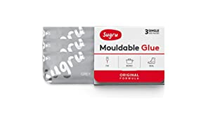 Sugru Mouldable Glue - Original Formula - Grey (3-Pack)