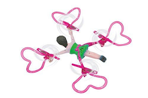 Jamara 422008 - Quadrella Drone Kompass Flyback Turbo Flip 2,4G – sehr einfach zu fliegen, selbststabilisierende Fluglage, stabiles Vollgehäuse, Rotorschutz, LED Beleuchtung mit Unterspannungswarnung