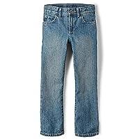 The Children's Place Big Boys' Straight Leg Jeans, River,7