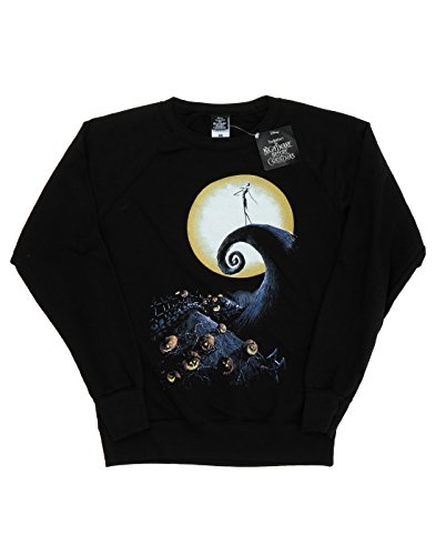 Disney Femme Nightmare Before Christmas Cemetery Sweat-Shirt Noir