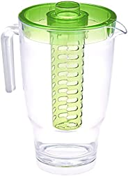 Amazon Brand - Solimo Plastic Fruit Flavor Pitcher- 2 Liters, Green