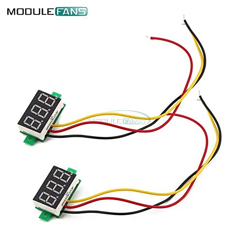 Blue 0,28 Zoll 3 Wire Mini DC Digital Panel Voltmeter Panel Mount LED Voltage DIY Kit elektronisches PCB Board Modul Panel-mount-voltmeter