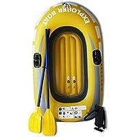 JIEXIAO Kayak Inflable Barco, PVC Kayak Barco fijada, el Explorador de Touring en balsa de Pesca Bote Tender Barco pontón con levas de Bomba de Aire y,Single Boat