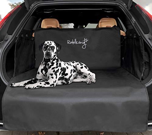 Rudelkönig Universal Kofferraumschutz - wasserabweisend & pflegeleicht - Ideale Autodecke für Hunde - Schwarze Kofferraummatte mit Ladekantenschutz