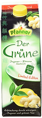 Pfanner Grüner Tee Ingwer-Zitrone, 6er Pack (6 x 2l) -