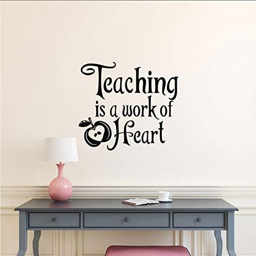 Stickerlehre Ist Eine Arbeit Des Herzens VinylZitat Schule Lehrer Wertschätzung Geschenk, Lehrer Geschenke, Lehrer Klassenzimmer Dekor 64 * 57 Cm